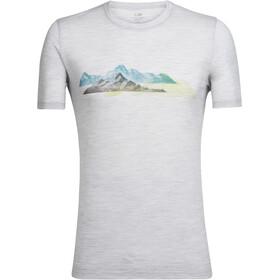 Icebreaker M's Tech Lite Misty Peaks SS Crewe Shirt blizzard hthr